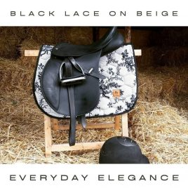 Dotibel Light Beige and Black Lace Saddle Pad