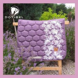 Dotibel Lilac Lace Saddle Pad