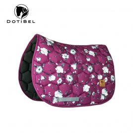 Dotibel Burgundy Roses Saddle Pad