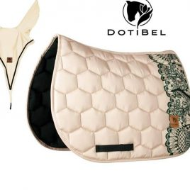 Dotibel Rosy Beige Lace Saddle Pad