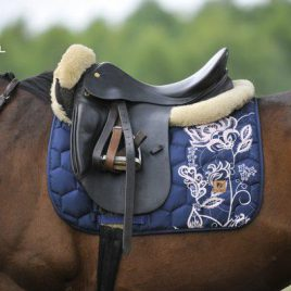 Dotibel Lace Navy Saddle Pad