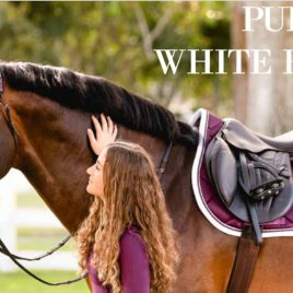 Equestrian Stockholm A/W'20 Purple White Jump/GP Saddle Pad