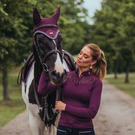 Equestrian Stockholm A/W'20 Purple White Ear Net