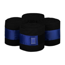 Equito Black and Royal Blue Fleece Bandages