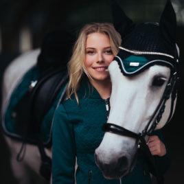 Equestrian Stockholm Emerald Ear Net