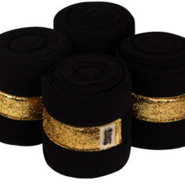 Equito Black Gold Fleece Bandages