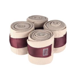 Equito Champagne Plum Fleece Bandages