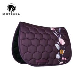 Dotibel Satin Plum with Magnolias