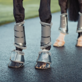 Equestrian Stockholm Silver Cloud Brushing Boots