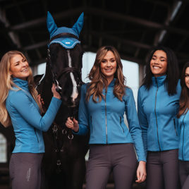 Equestrian Stockholm Parisian Blue Ear Bonnet