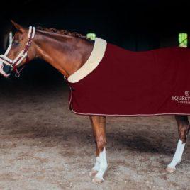 Equestrian Stockholm Bordeaux Fleece Rug