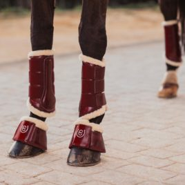 Equestrian Stockholm Bordeaux Bell Boots
