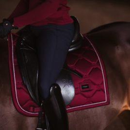 Equestrian Stockholm Bordeaux Dressage Saddle Pad