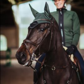 Equestrian Stockholm Deep Olivine Ear Net