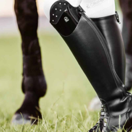 Cavallo Linus Jump Patent and Suede Bling Riding Boots