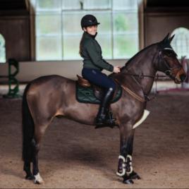 Equestrian Stockholm Deep Olivine Jump Saddle Pad