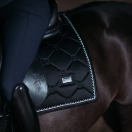 Equestrian Stockholm Black Edition Dressage Saddle Pad
