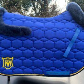 Mattes Royal Blue Sheen Square Saddle Pad