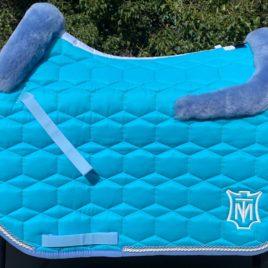 Mattes Turquoise Sheen Square Jump Saddle Pad