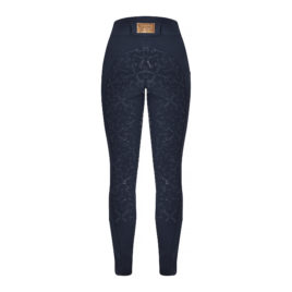 Equito Navy Rose Gold Silicone Seat Riding Leggings