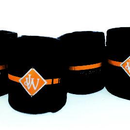 John Whitaker Navy and Orange Fleece Bandages
