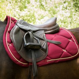 Back on Track Night Collection Dark Red Saddle Pad