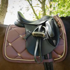 Back on Track Night Collection Coffee Saddle Pad