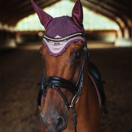 Equestrian Stockholm Orchid Bloom Ear Net