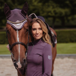 Equestrian Stockholm Orchid Bloom Vision Top