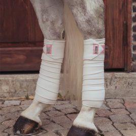 Equestrian Stockholm Desert Rose Fleece Bandages
