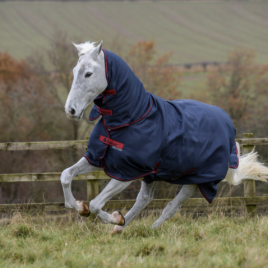 Bucas Freedom Graphite Heavyweight Turnout Rug with Neck