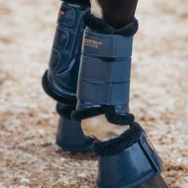 Equestrian Stockholm Monaco Blue Brushing Boots