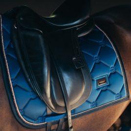 Equestrian Stockholm Monaco Blue Dressage Saddle Pad