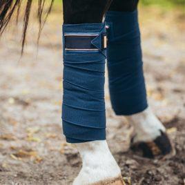 Equestrian Stockholm Monaco Blue Fleece Bandages
