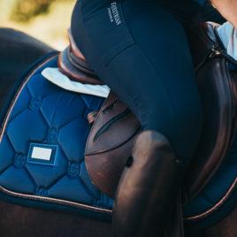 Equestrian Stockholm Monaco Blue Jump Saddle Pad