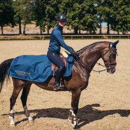 Equestrian Stockholm Monaco Blue Exercise Rug