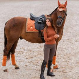 Equestrian Stockholm Bronze Gold Dressage Saddle Pad
