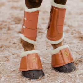 Equestrian Stockholm Bronze Gold Brushing Boots