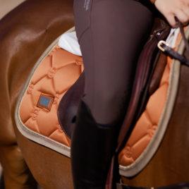 Equestrian Stockholm Bronze Gold Jump Saddle Pad